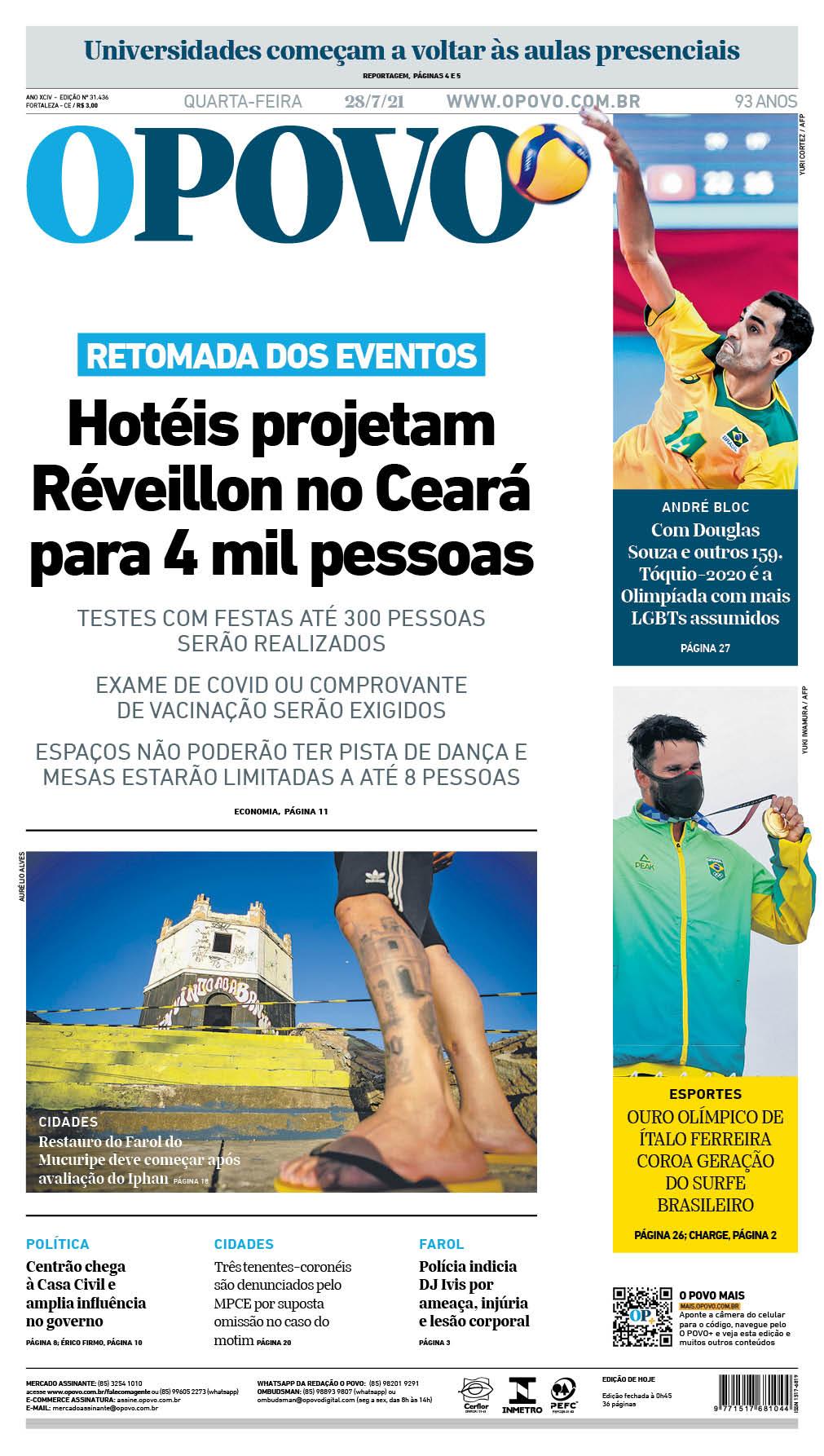 Edição impressa do Jornal O POVO