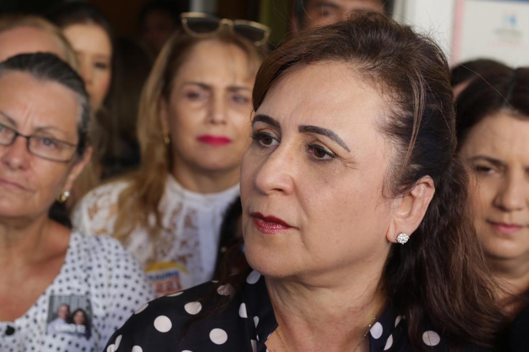 Senadora divulgou notícia pelas redes sociais  (Foto: Mateus Dantas em 07/09/18)
