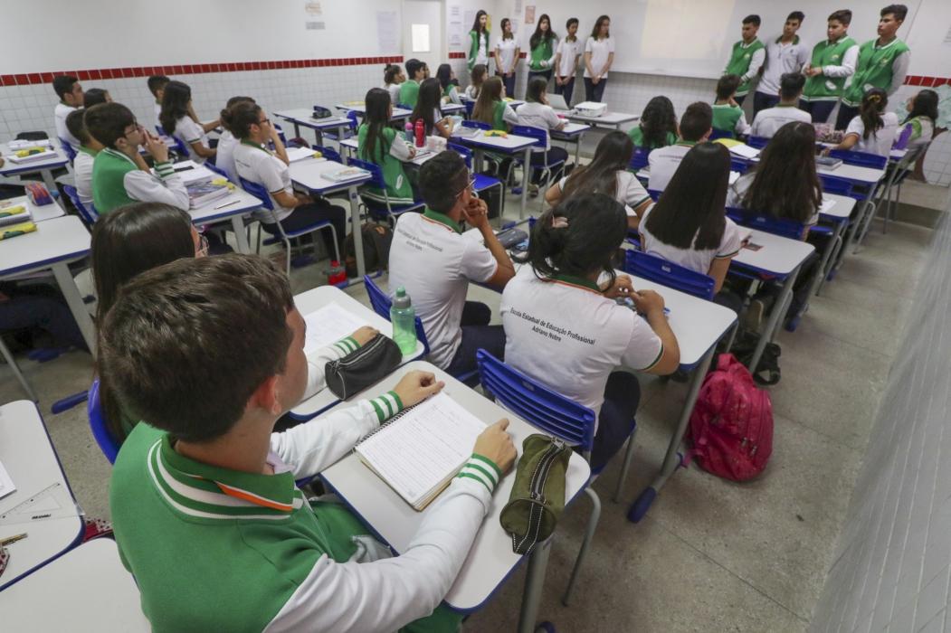 Com 214 mil estudantes atendidos, Fortaleza tem a maior rede de educação básica no Nordeste.   (Foto: Mateus Dantas / O POVO)