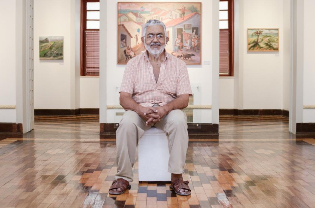 FORTALEZA, CE, BRASIL,  24-09-2018: Visita guiada na Casa Barão de Camocim a exposição do artista cearense, Descartes Gadelha. (Foto: Alex Gomes/O Povo)