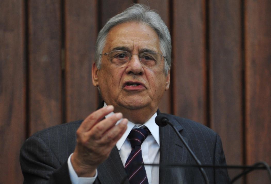 Ex-presidente Fernando Henrique Cardoso repercutiu ataques contra o STF (Foto: RENATO ARAUJO/ABR)