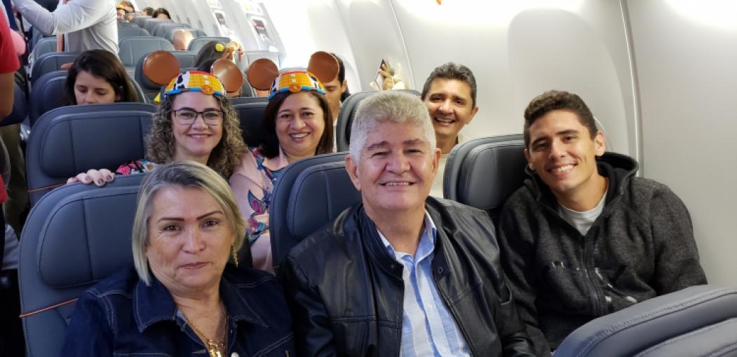 Francisco Carneiro está viajando pela oitava vez com a família para Orlando