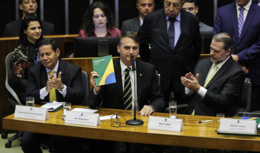 ?BOLSONARO retornou ao Congresso pela primeira vez após eleito presidente