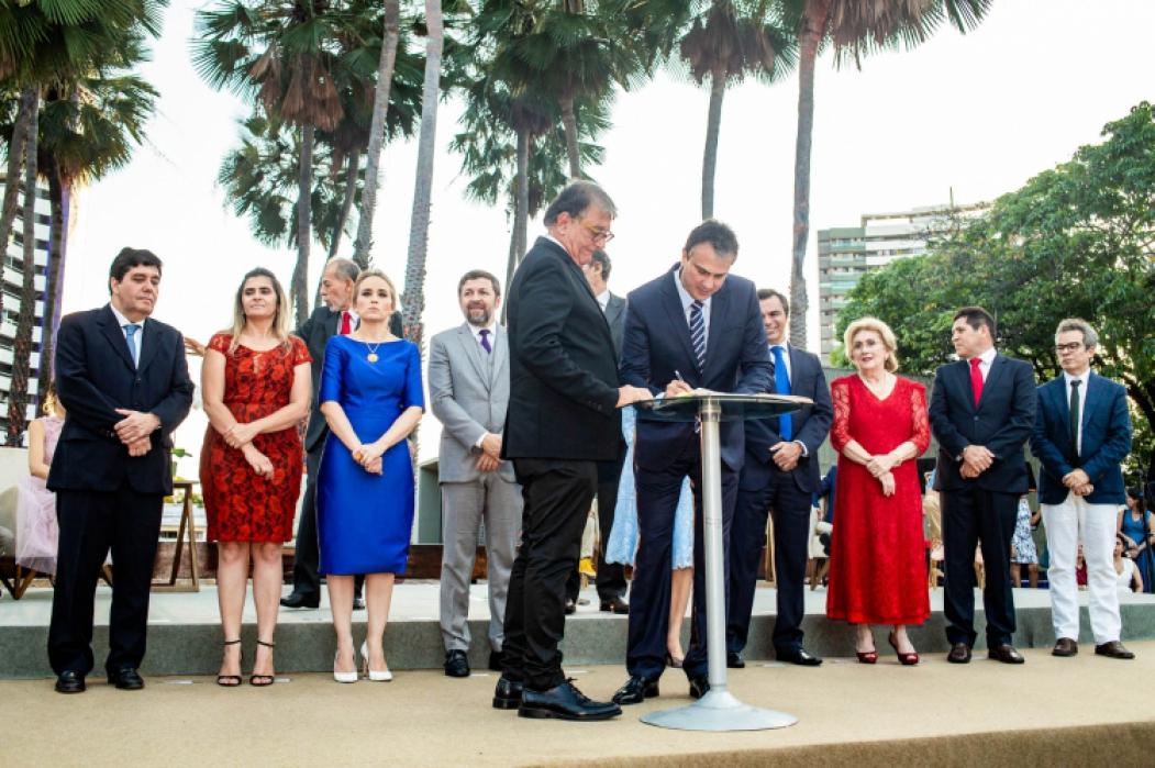 O secretário do Turismo, Arialdo Pinho, um dos grandes destaques da primeira gestão, com o governador Camilo Santana, na solenidade de posse do novo secretariado