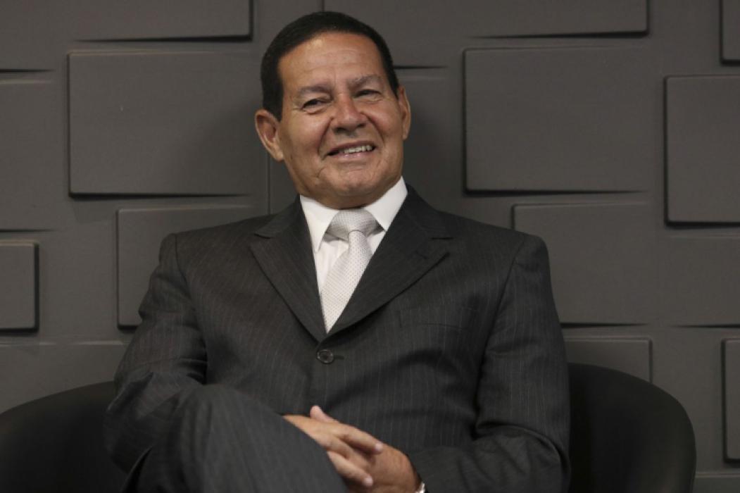 HAMILTON Mourão durante cerimônia de posse do presidente do BB
