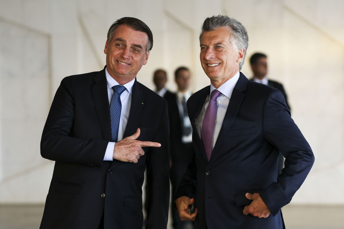 BOLSONARO recebeu o presidente da Argentina, Mauricio Macri, no Palácio do Itamaraty