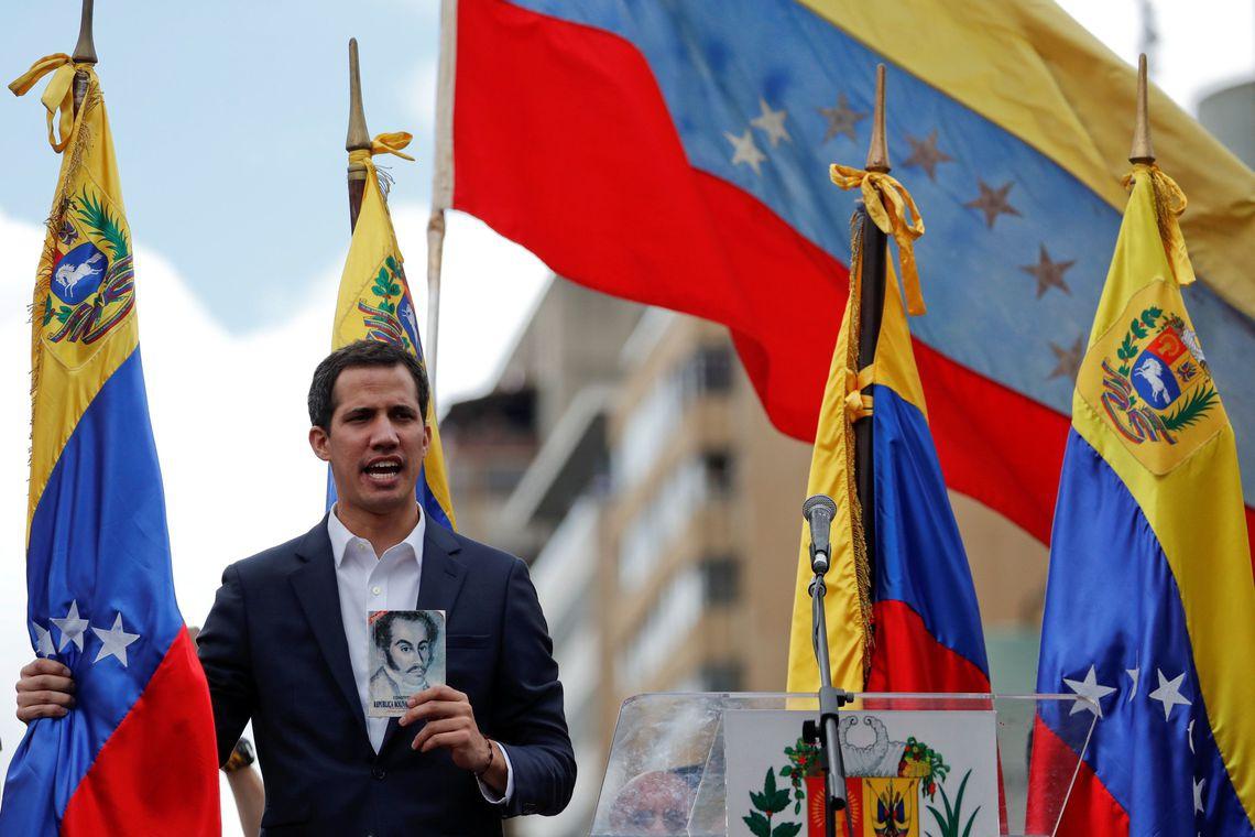 Juan Guaidó se autodeclarou presidente da Venezuela (Foto: Reuters/Carlos Garcia Rawlins/Direitos Reservados)