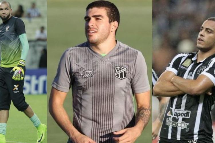 Everson, Richardson e Arthur: ótimo desempenho dentro de campo rendeu retorno financeiro ao Ceará.  (Foto: Fotos: Mateus Dantas e Júlio Caesar/O POVO)