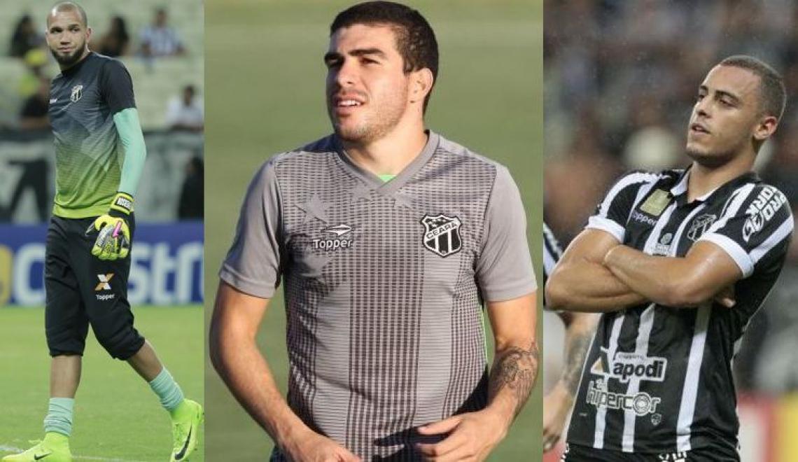 Everson, Richardson e Arthur: ótimo desempenho dentro de campo rendeu retorno financeiro ao Ceará.