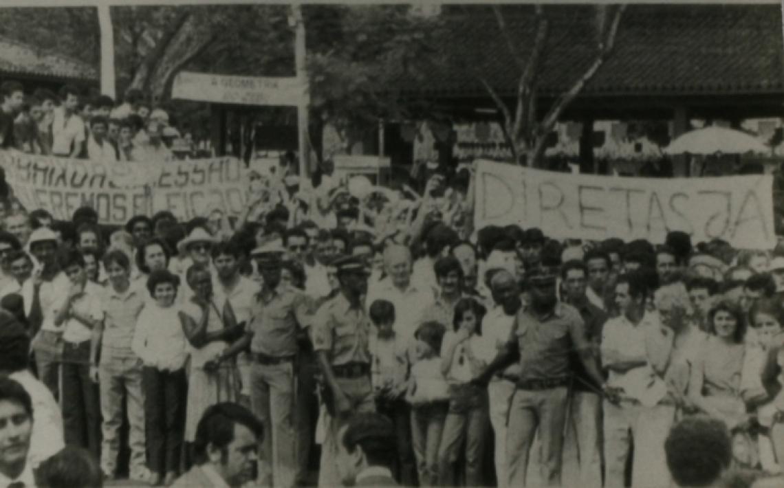 Manifestações políticas no Brasil pela luta da democracia. (Foto: Divulgação)