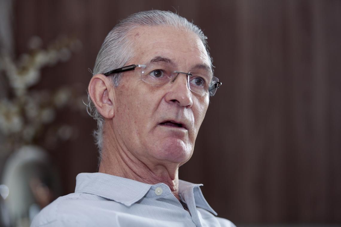 FORTALEZA, CE, BRASIL, 26-01-2019: Dinaldo Diniz, presidente do sindicato da indústria da construção pesada do Ceará - Sindinconpe. Sede do sindicato.   (Foto: Júlio Caesar/O POVO)