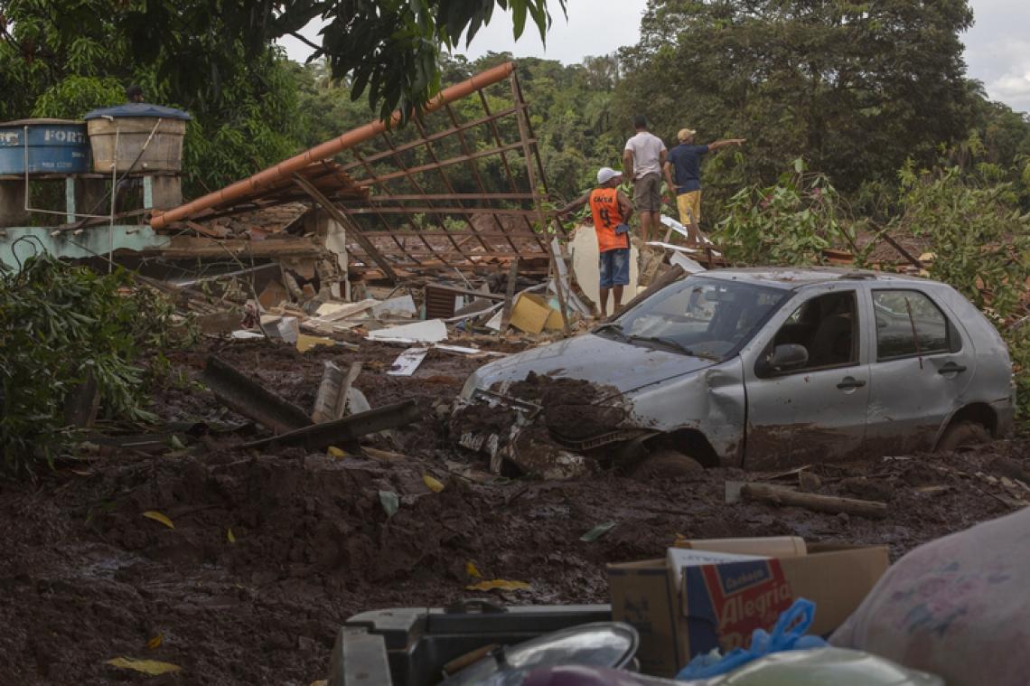 Barragem em Brumadinho se rompeu na última sexta-feira, 25