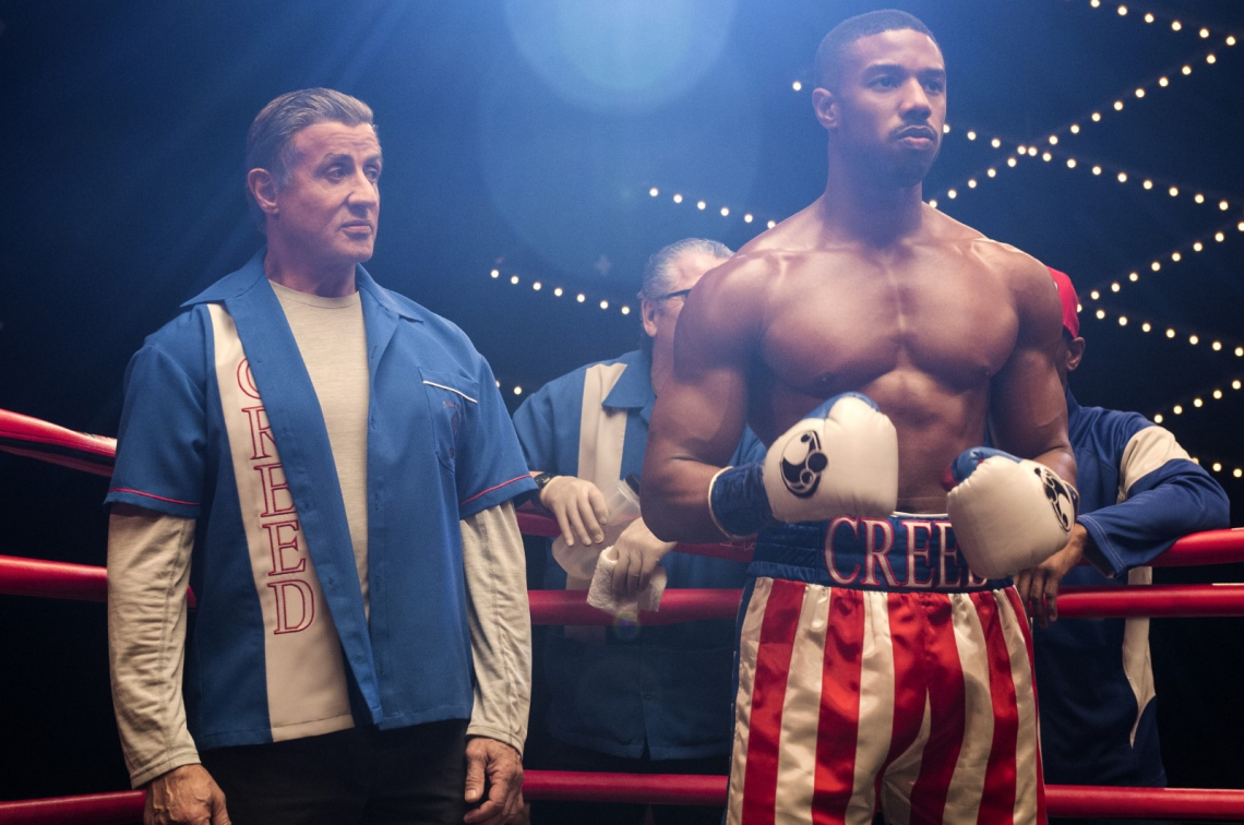 C2_01193_R.Sylvester Stallone stars as Rocky Balboa and Michael B. Jordan as Adonis Creed and in.CREED II, a Metro Goldwyn Mayer Pictures and Warner Bros. Pictures film..Credit: Barry Wetcher / Metro Goldwyn Mayer Pictures / Warner Bros. Pictures.© 2018 Metro-Goldwyn-Mayer Pictures Inc. and Warner Bros. Entertainment Inc..All Rights Reserved..