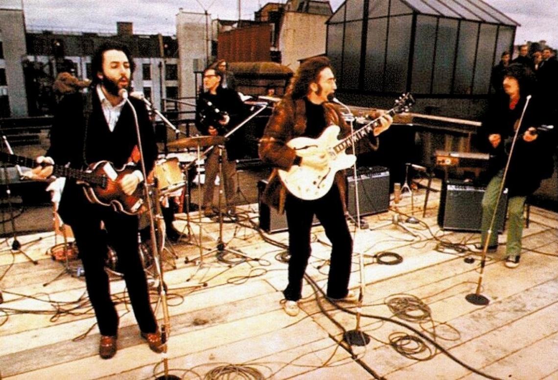 último show dos Beatles no telhado da Apple