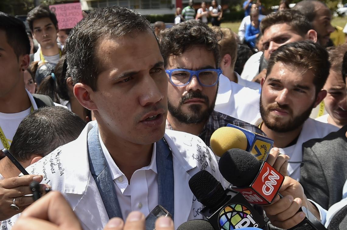 GUAIDÓ pediu ontem que militares permitam a entrada de ajuda humanitária na Venezuela