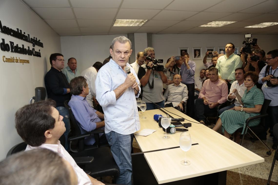 COMPOSIÇÃO da Mesa Diretora foi anunciada em coletiva de imprensa
