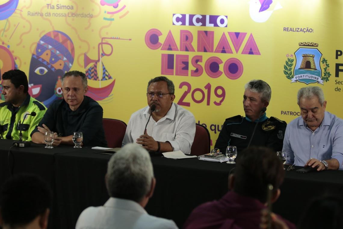 Divulgação da programação do Ciclo Carnavalesco 2019 foi no Paço Municipal (Gustavo Simão/ Especial para O POVO)