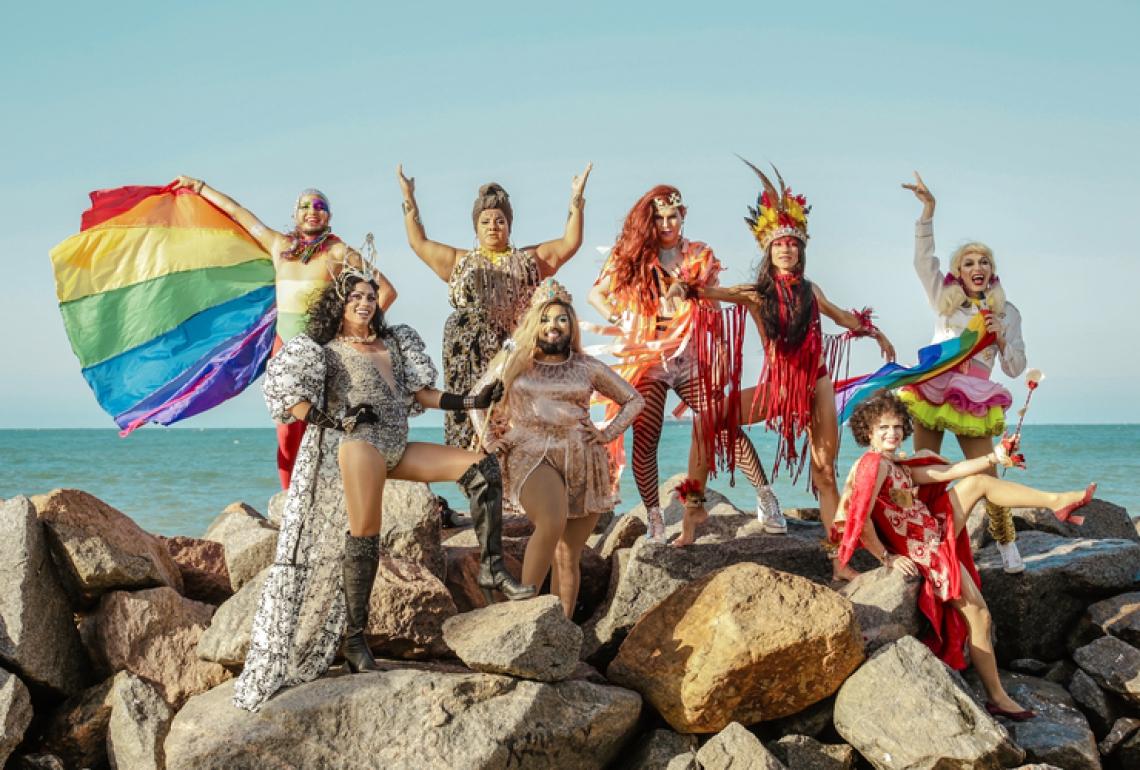 As Travestidas agitam o Pré-carnaval de todos os sábados de fevereiro em Fortaleza (Foto: Thais Mesquita/Divulgação)