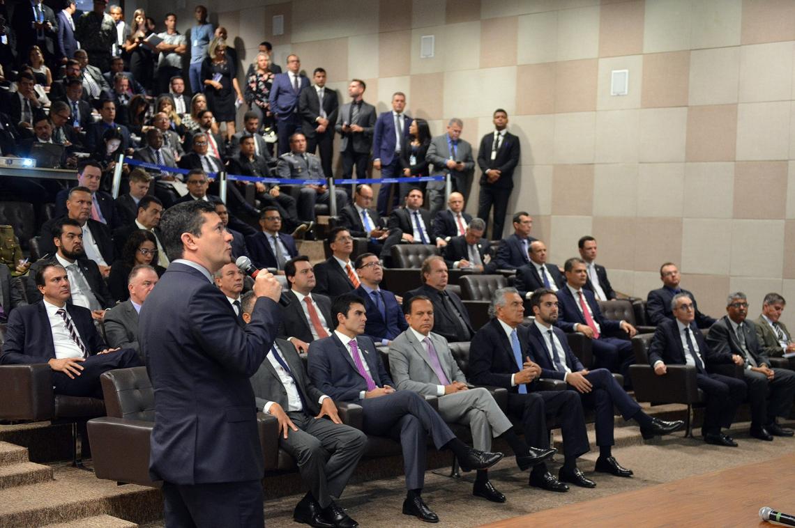 Moro apresenta o projeto a governadores nesta segunda-feira, 4 (Foto: Divulgação/Ministério da Justiça)