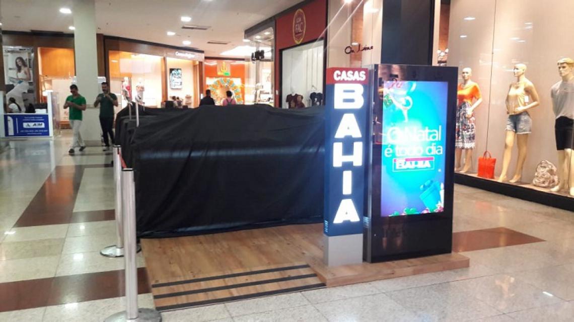 O novo quiosque das Casas Bahia terá espaço de 25 metros quadrados e começa a funcionar a partir desta quarta, 6. (Foto: Divulgação/Cariri Garden Shopping)