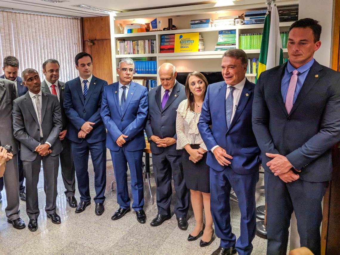 Além do senador cearense Eduardo Girão, que se filiou no último dia 3, o partido conta, agora, com Lasier Martins (RS) e Styvenson Valentim (RN), compondo o grupo de oito parlamentares integram a bancada do partido no Senado.