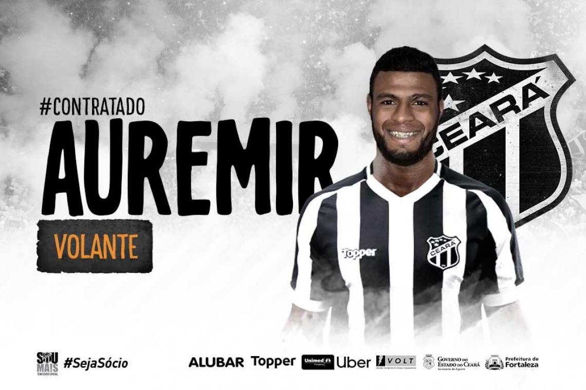 Auremir foi anunciado como reforço do Ceará em 1º de fevereiro.