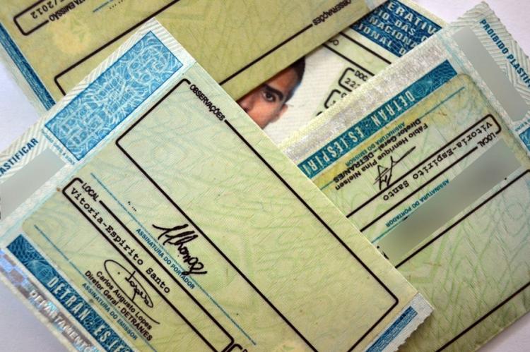 Carteira Nacional de Habilitação. (Foto: Governo do Espírito Santo/divulgação)