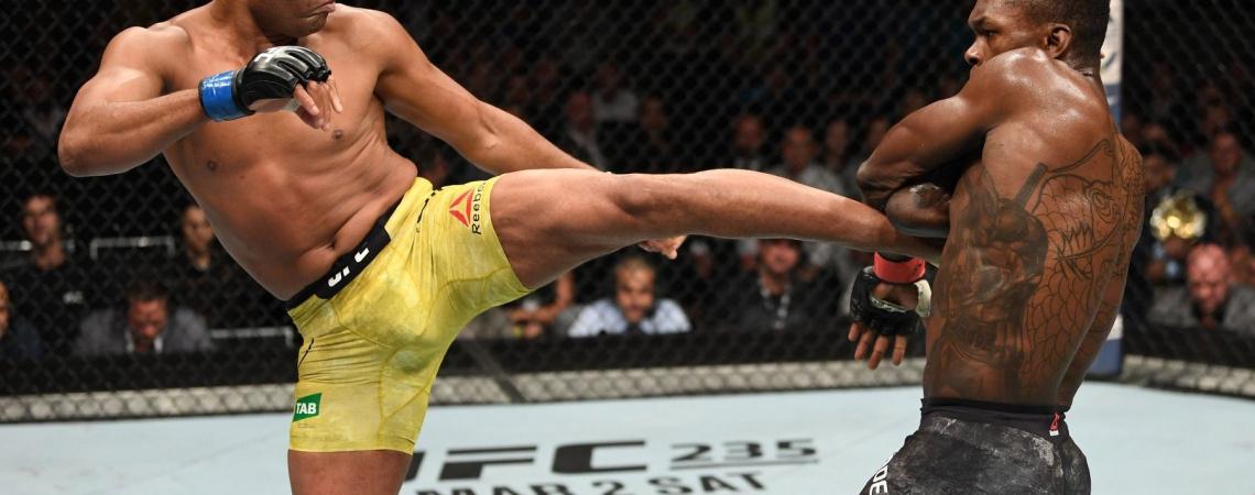 Anderson Silva foi derrotado por Israel Adesanya na decisão dos juízes pelo UFC 234
