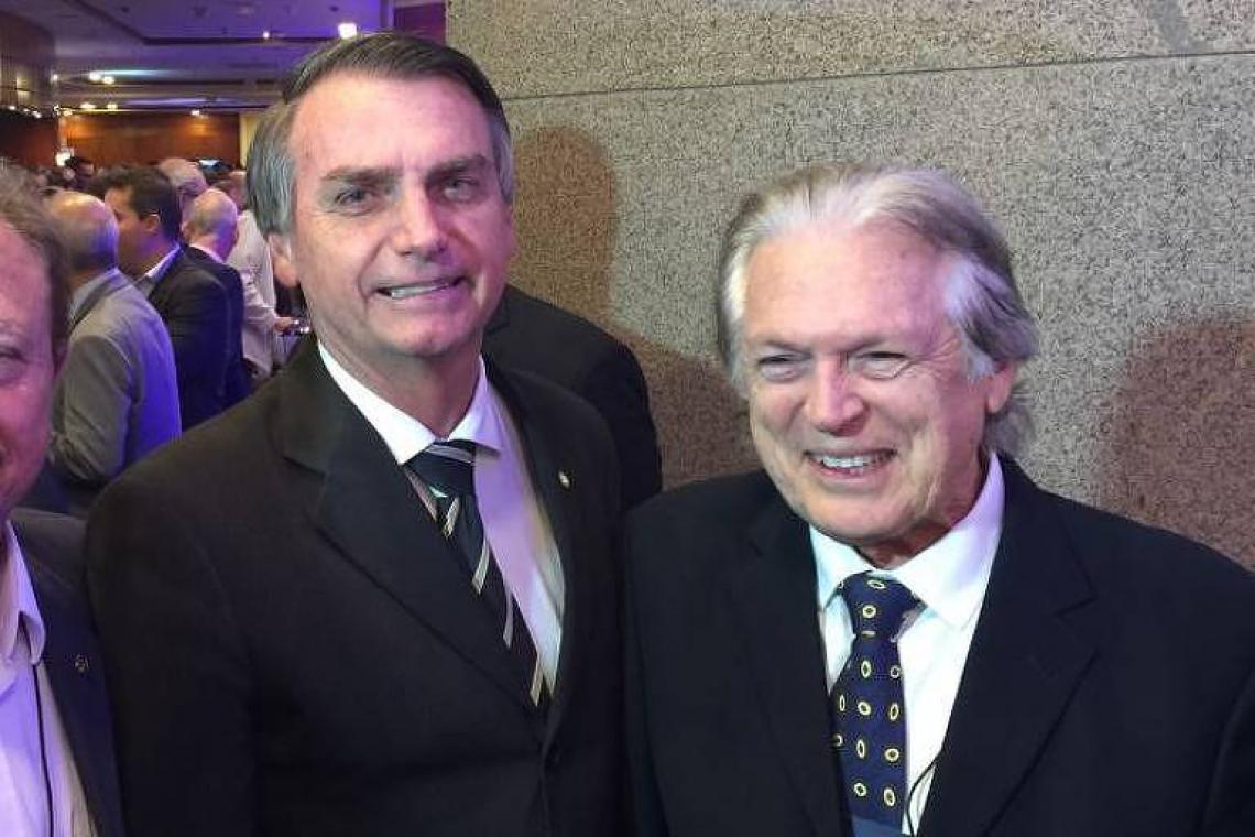 Jair Bolsonaro e Luciano Bivar, presidente do PSL (Foto: Divulgação)