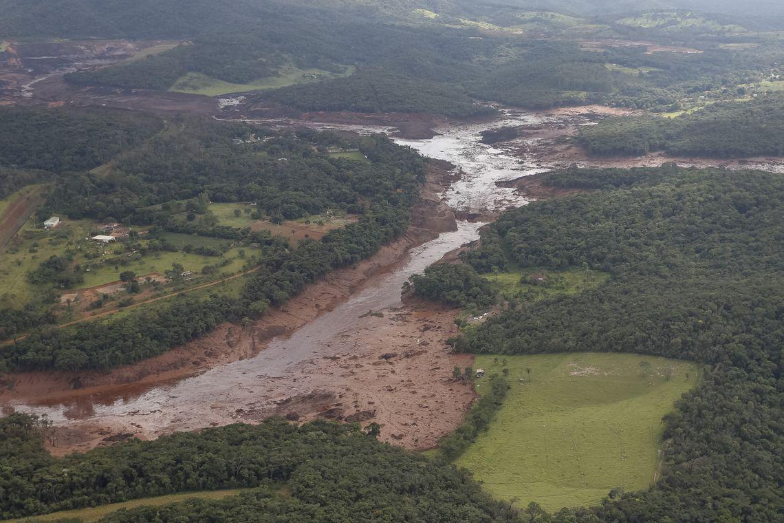 Região atingida pelo rompimento da barragem Mina Córrego do Feijão, em Brumadinho/MG. (Foto: Isac Nóbrega/PR)