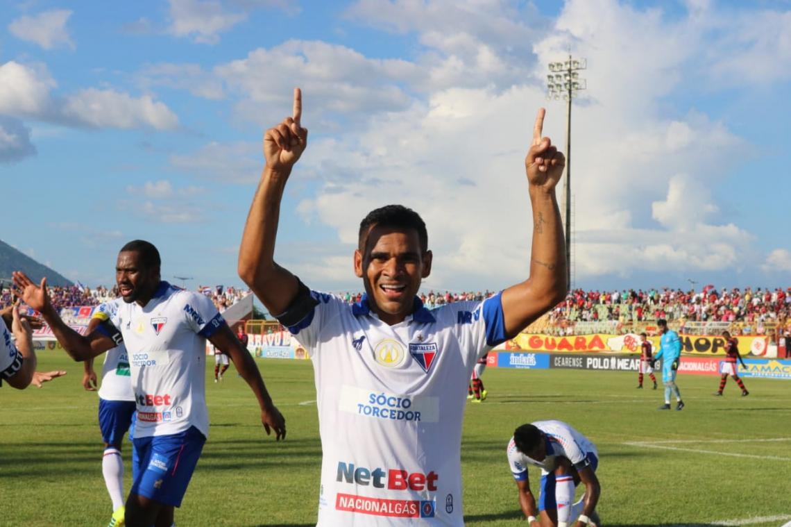 Ederson foi o principal finalizador do Fortaleza diante do Guarany. Foto: Leonardo Moreira/Fortaleza EC