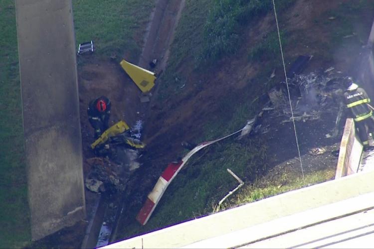 Acidente deixou duas vítimas nesta segunda-feira, 11 (Foto: Reprodução/TV Globo)
