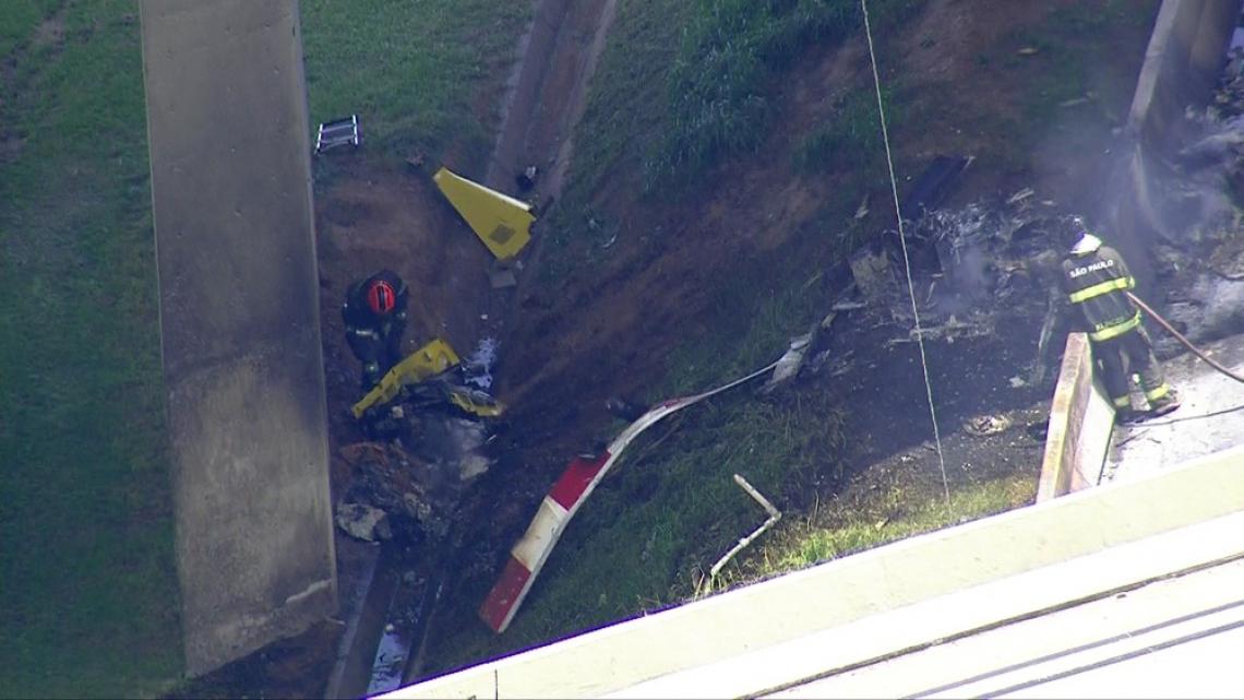 Acidente com aeronave em São Paulo deixou duas vítimas nesta segunda-feira, 11 (Foto: Reprodução/TV Globo)