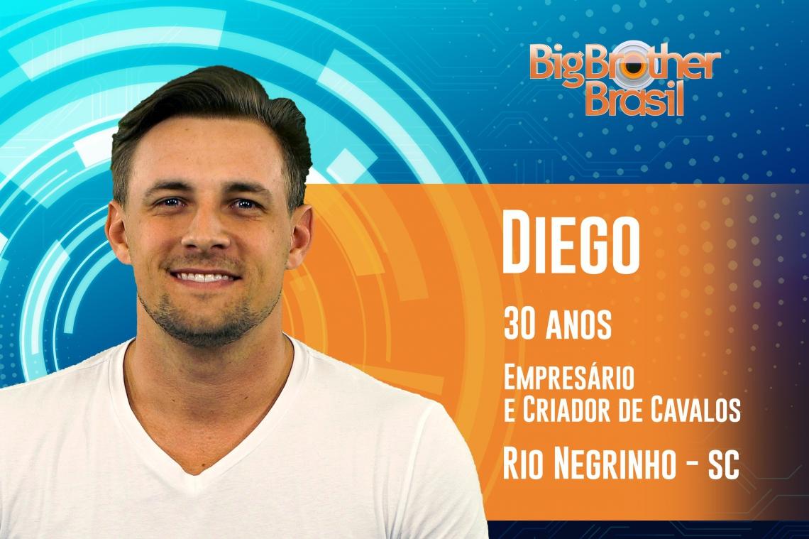 Diego é o 4º eliminado do BBB19 (FOTO: Reprodução)