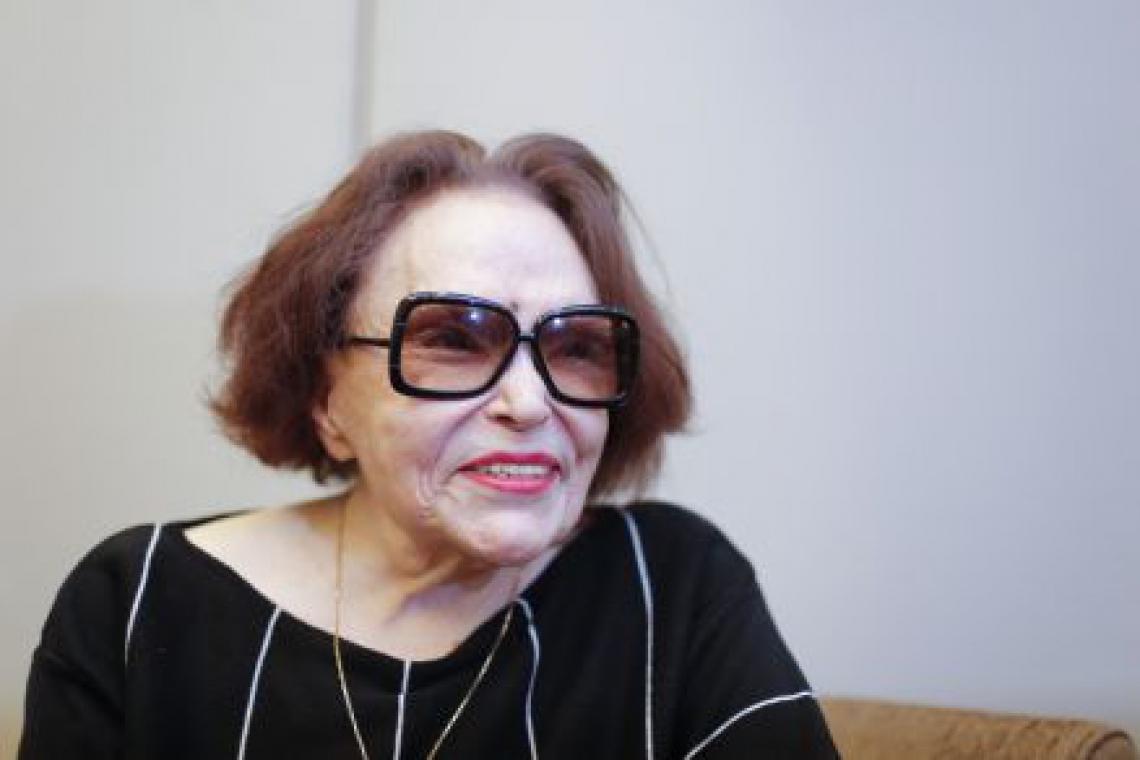 Bibi Ferreira,  atriz, cantora, diretora e compositora em entrevista para o Páginas Azuis do jornal O POVO em 2016. (fotos: Tatiana Fortes/ O POVO)