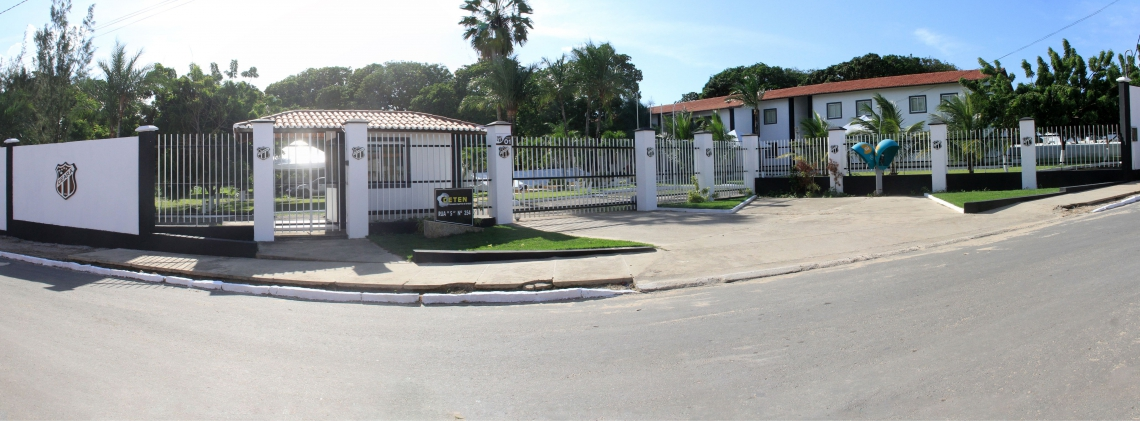 Fachada da Cidade Vozão, Centro de Treinamento (CT) Luís Campos, em Itaitinga. (Foto: Divulgação/CearáSC)