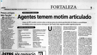 Matéria publicada no O POVO em 20/2/2001