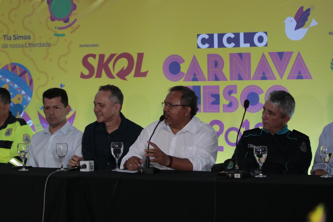 FORTALEZA ,CE, BRASIL 15-02-2019:Divulgação da programação comleta do Carnaval 2019, Espaço Belchior.(Gustavo Simão/ Especial para O POVO)