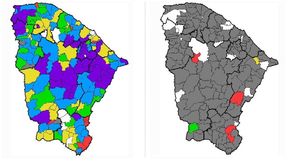Na quinta-feira, 14, a Fundação Cearense de Meteorologia e Recursos Hídricos (Funceme) registrou chuvas em mais de 170 municípios. Nesta sexta-feira, 15, choveu em apenas seis.