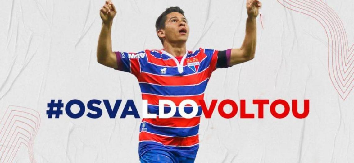 Osvaldo anuncia retorno ao Fortaleza.