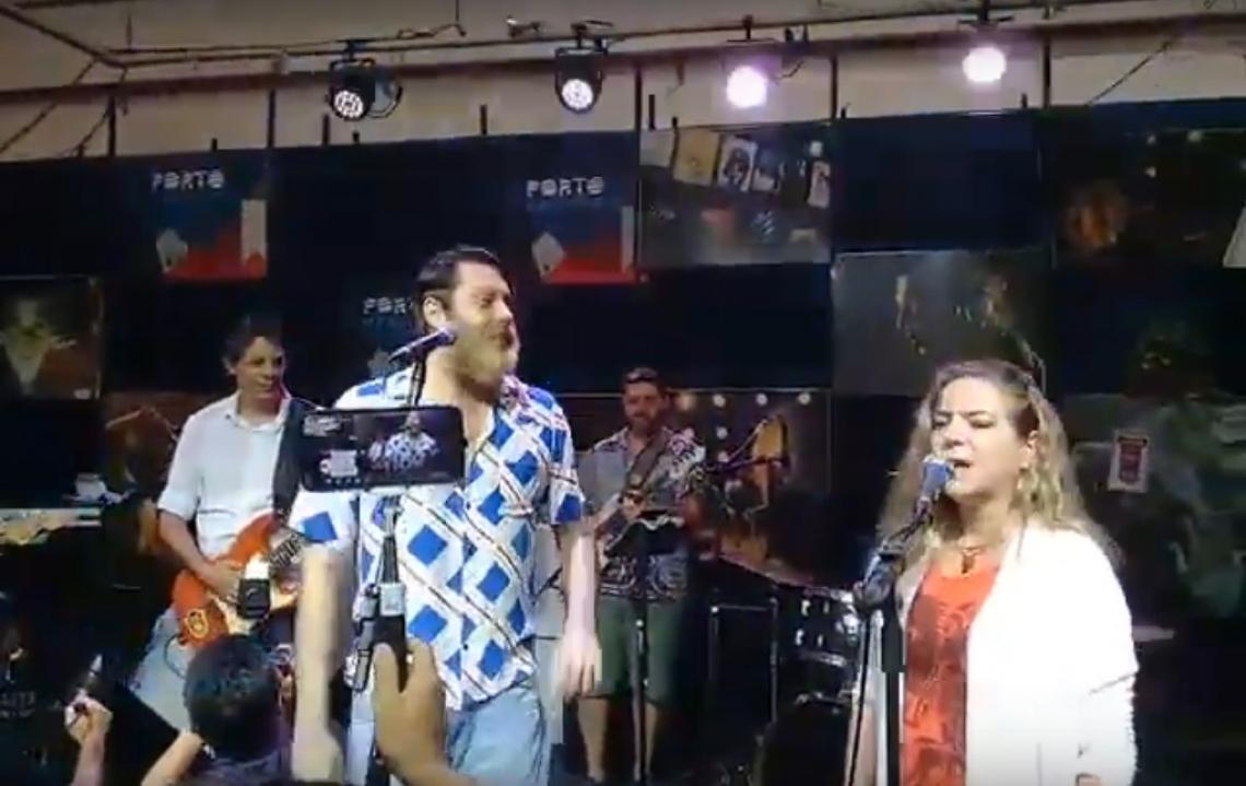 Fernando Haddad acompanhado de Luizianne Lins