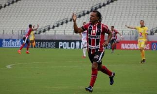 Enercino marcou o gol da partida. Foto: Ronaldo Oliveira/Ferroviário