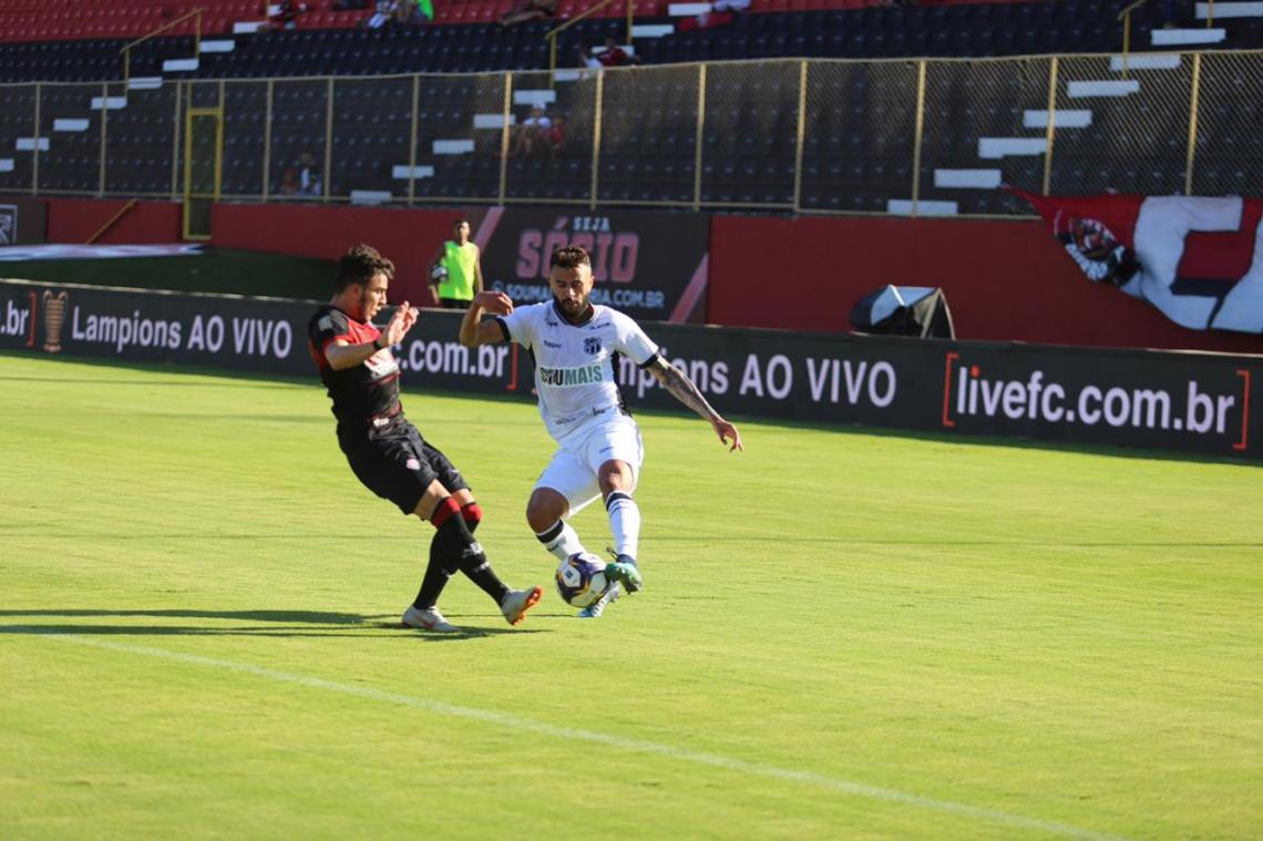 Ceará jogou bem, mas não venceu o Vitória em Salvador. Foto: Felipe Santos/cearasc.com.