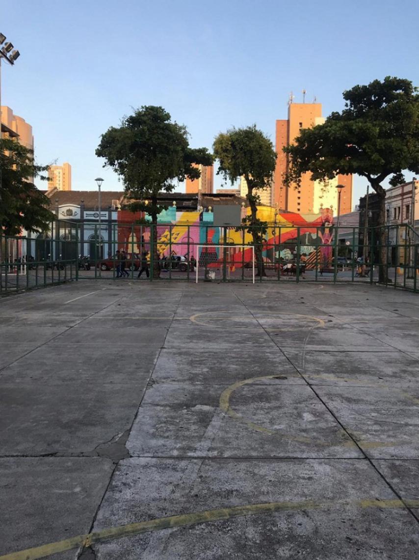 Na ocasião, a quadra poliesportiva do Dragão do Mar vai passar por uma revitalização com intervenções artísticas. (Foto: Divulgação)