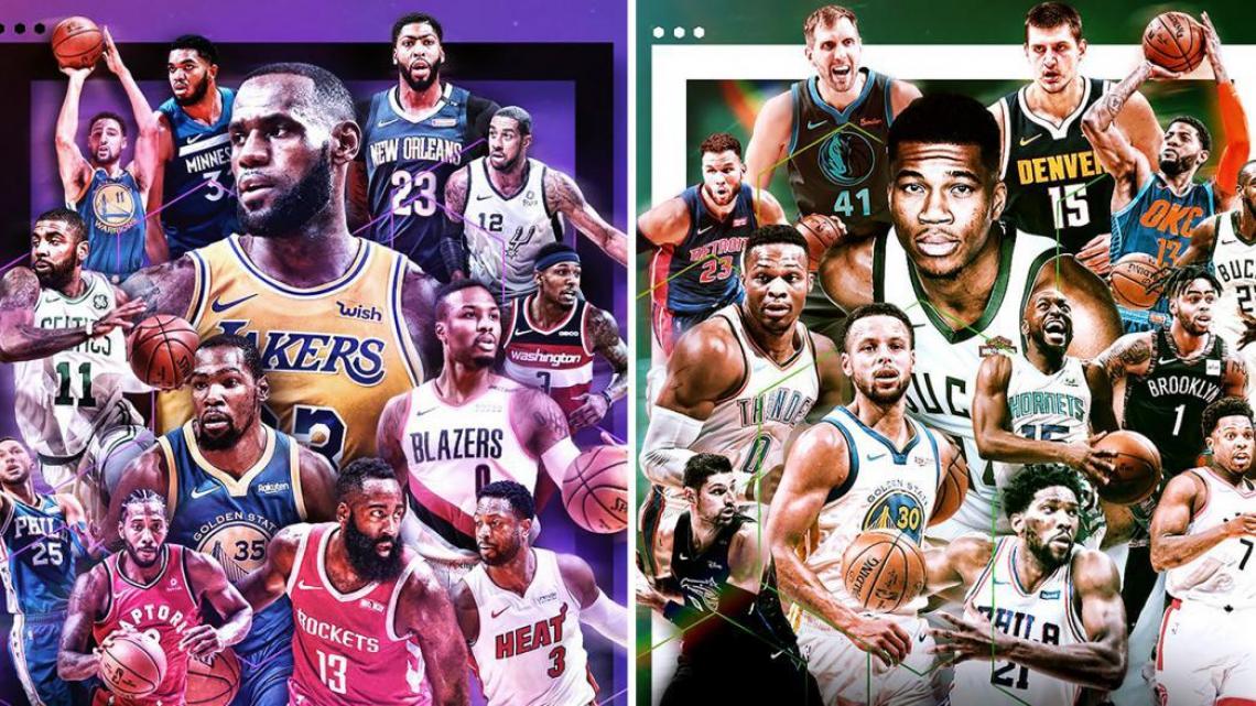 Jogo das Estrelas promove o duelo entre Team Giannis e Team LeBron, dois astros da NBA.