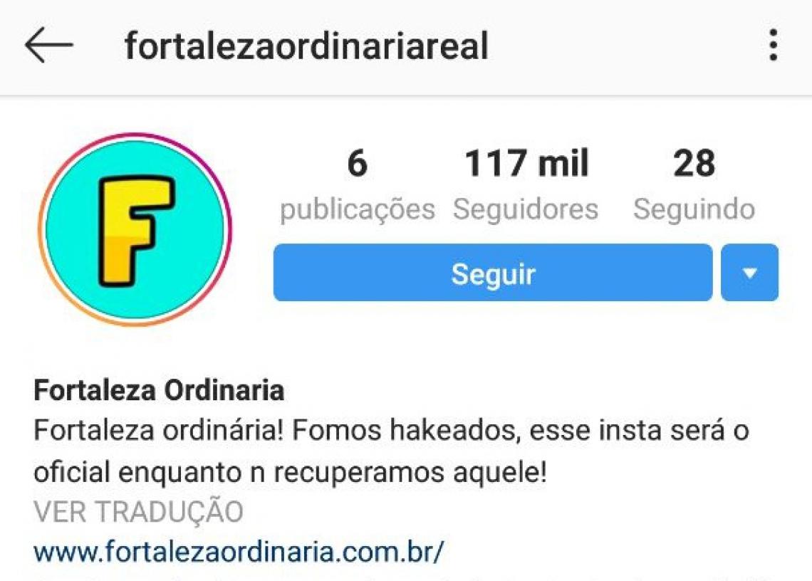 O novo perfil já contava com 117 mil seguidores no momento de publicação desta notícia (Foto: Reprodução/Instagram)