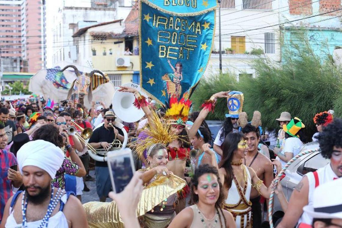 O bloco foi um dos destaques da programação de Carnaval de 2017 e 2018 (Fábio Lima/O POVO)