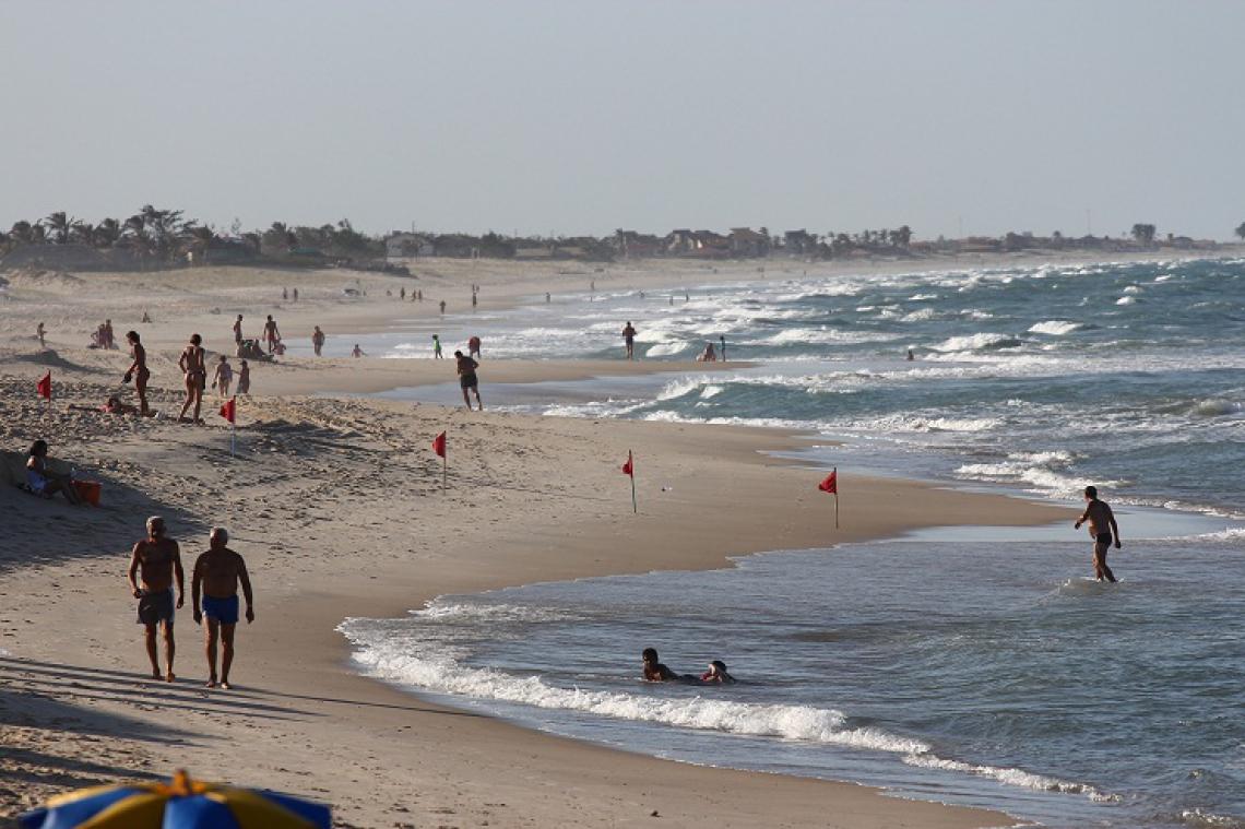 A Praia de Morro Branco está em 8º lugar, no top 10 do ranking, na lista de 25 melhores praias do Brasil, segundo site de viagens alemão. (Foto: Rodrigo Carvalho em 15/02/15)