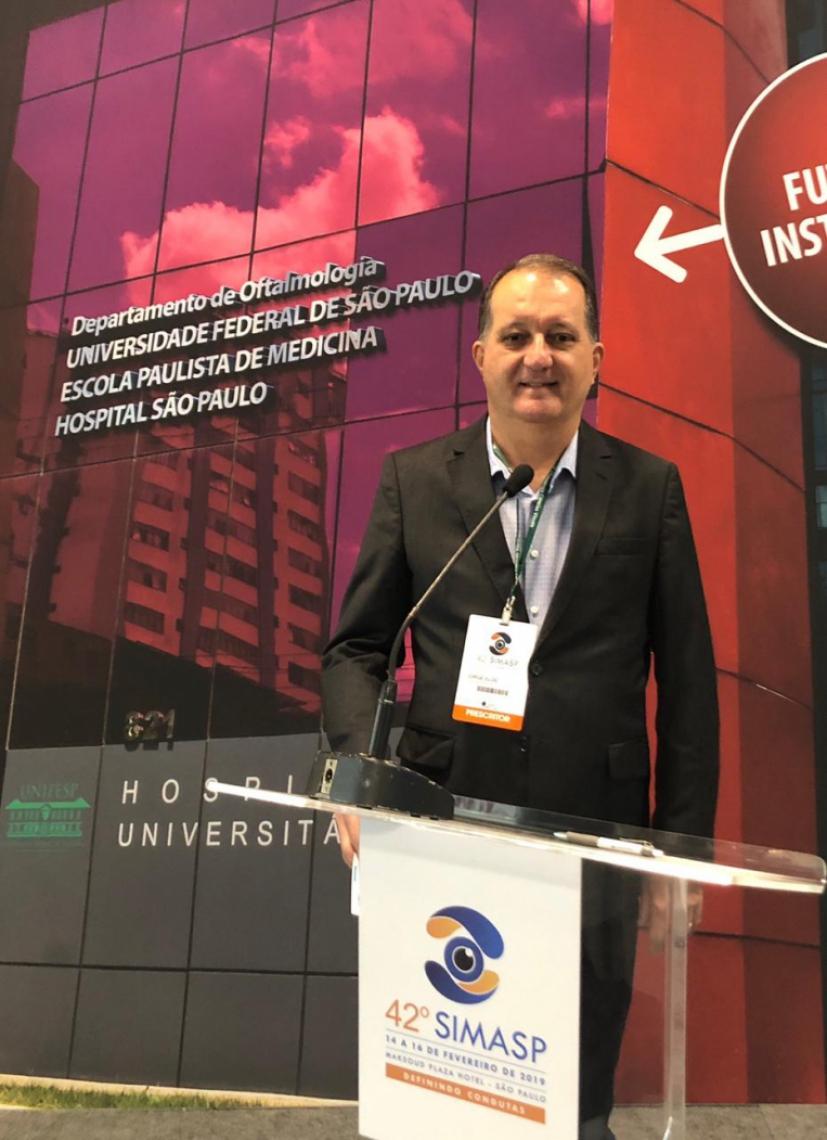 OFTALMOLOGISTA Jorge Eldo, da ViewClinic - Clinica da Visão, participa do 42º SIMASP, da UNIFESP, em São Paulo