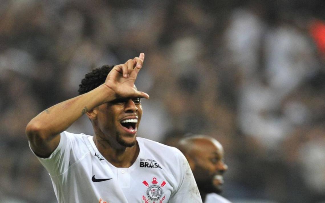 Gustavo marcou seis gols em nove jogos vestindo a camisa do Corinthians. Foto: Divulgação/Corinthians